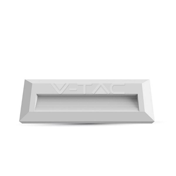 V-TAC VT-1162 SEGNAPASSO LED BIANCO 3W BIANCO NATURALE RETTANG. IP65 LED1326