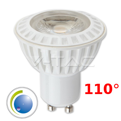 V-TAC VT-2888D LAMPADINA LED GU10 COB 6W BIANCO FREDDO DIMMERABILE LED1656