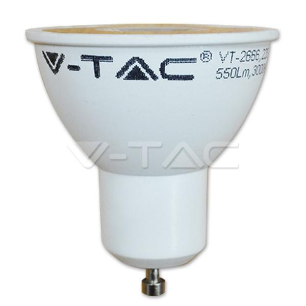 V-TAC VT-2886D LAMPADINA LED GU10 SMD 7W 38 GRADI BIANCO CALDO DIMM LED1666