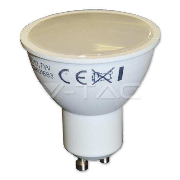 V-TAC VT-2779 LAMPADINA LED GU10 SMD 7W 110 GRADI BIANCO NATURALE LED1683