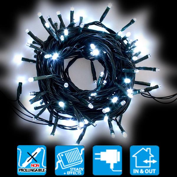 TECNO-NATALE LEDTLE CATENA 180 LED REFLEX CON CONTROLLER BIANCO FREDDO LEDX30824