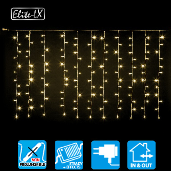 TECNO-NATALE LEDXK TENDA 182 LED CONTROLLER MEMORY BIANCO CALDO LEDX30428