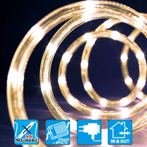 TECNO-NATALE LEDPNE10 TUBO LUMINOSO 216 LED CONTROLLER MEMORY BIANCO CALDO LEDX36123