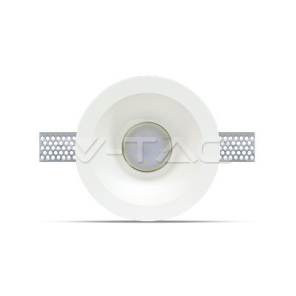 V-TAC VT-773 PORTALAMPADA SPOT INCASSO TONDO IN GESSO LED3654