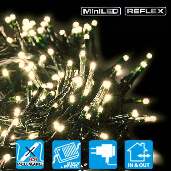 TECNO-NATALE LEDTLG CATENA 120 LED REFLEX CONTROLLER MEMORY BIANCO CALDO TRADITIONAL LEDX40168