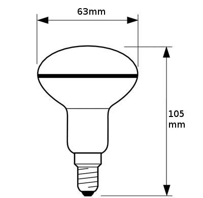 V-TAC VT-1962 LAMPADINA LED E27 R63 FILAMENTO 6W BIANCO CALDO SPOT LED4311