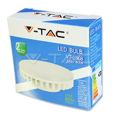V-TAC VT-1969 LAMPADINA LED GX53 7W BIANCO NATURALE LED4438