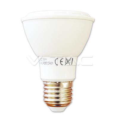 V-TAC VT-1208 LAMPADINA LED E27 PAR20 8W BIANCO NATURALE  LED4264