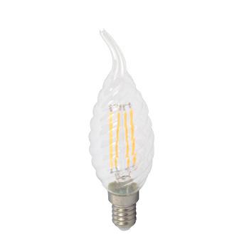V-TAC VT-1995 LAMP. LED E14 4W FILAM. BIANCO FREDDO A FIAMMA TORTIGLI LED4432