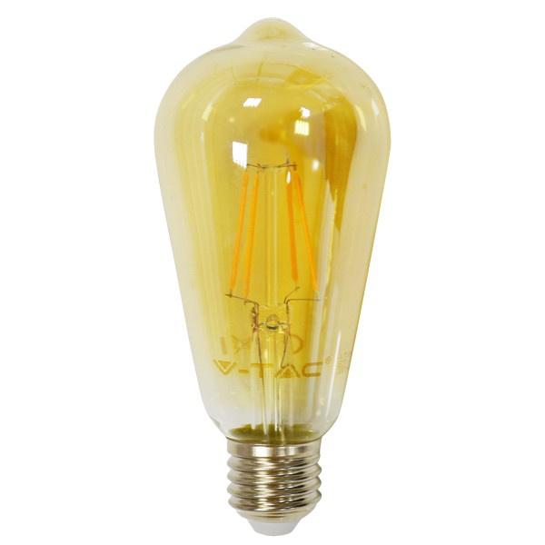 V-TAC VT-1964 LAMPADINA LED E27 FILAMENTO 4W BIANCO CALDO AMBRA LED4361