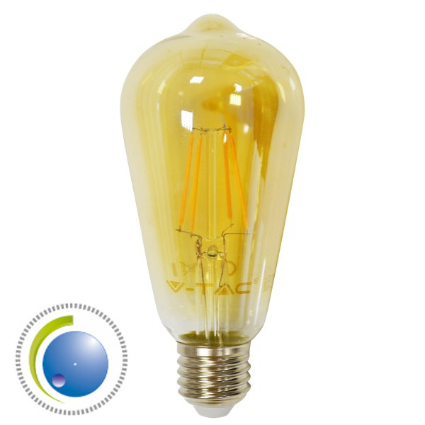 V-TAC VT-1964 LAMP. LED E27 FILAMENTO 4W BIANCO CALDO AMBRA DIMMERABI LED4368