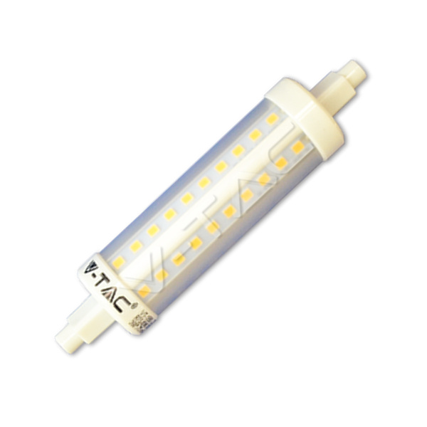 V-TAC VT-1990 LAMPADINA LED R7S 10W 118MM 360 GRADI BIANCO CALDO LED4369