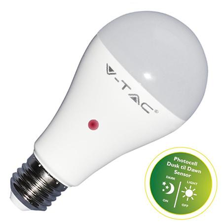 V-TAC VT-2109 LAMP. LED E27 9W BIANCO NATURALE CON SENS. BLISTER 2PZ LED7286