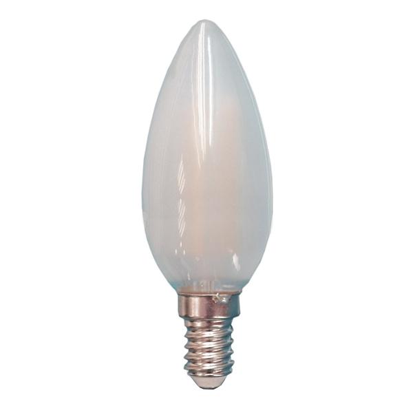 V-TAC VT-1936 LAMPADINA LED E14 4W FILAMENTO SATINATA CALDA CANDELA LED4474