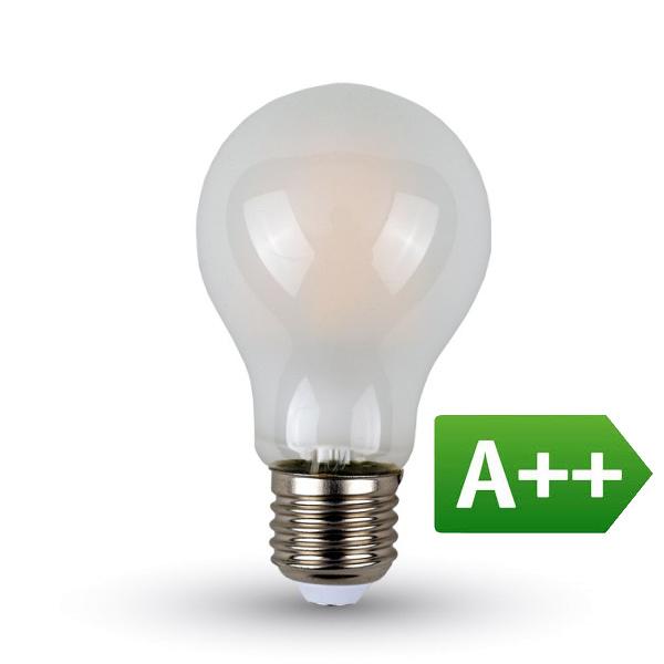 V-TAC VT-2047 LAMPADINA LED E27 FIL. SATINATA 7W BIANCO NATURALE LED7182