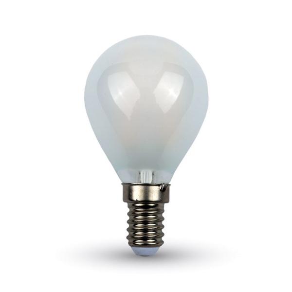 V-TAC VT-1835 LAMP. LED E14 4W FIL. CROSS OPACA BIANCO NATURALE A BUL LED44931