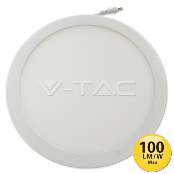 V-TAC VT-2200RD MINI PANNEL 22W BIANCO CALDO TONDO LED4835