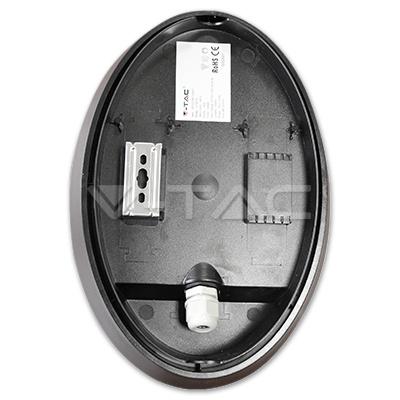 V-TAC VT-8010 PLAFONIERA LED OVALE 12W LUCE FREDDO IMPERMEABILE LED1269