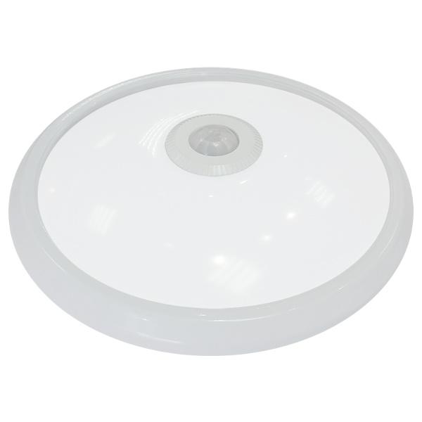 V-TAC VT-8017 PLAFONIERA LED TONDA 12W LUCE FREDDA CON SENSORE MOVI LED5059