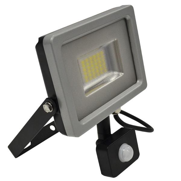 V-TAC VT-4850PIR FARO LED 50W BIANCO CALDO CON SENSORE GRIGIO-NERO LED5701