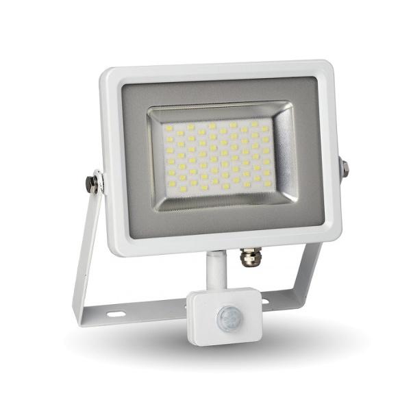 V-TAC VT-4830PIR FARO LED 30W BIANCO NATURALE CON SENSORE BIANCO LED5751