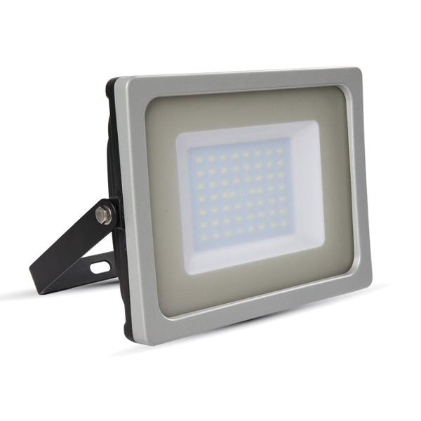 V-TAC VT-4955 FARO LED 50W ULTRASOTTILE BIANCO NATURALE SMD NERO-GRIG LED5829