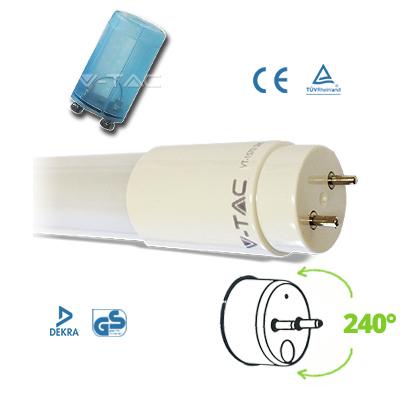 V-TAC VT-6072 TUBO A LED NANOPLASTICA 10W BIANCO NATURALE 60CM  LED6230