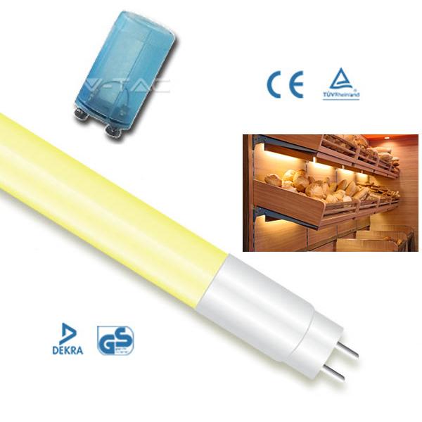 V-TAC VT-1228 TUBO A LED PER PANETTERIE 18W GIALLO 120CM  LED6322