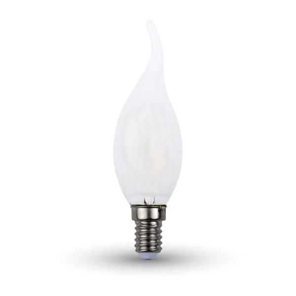 V-TAC VT-1927 LAMP. LED E14 4W FIL. OPACA BIANCO FREDDO A FIAMMA LED7106