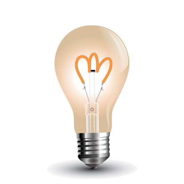 V-TAC VT-2063 LAMPADINA LED E27 3W FIL. VINTAGE AMBRATA BIANCO CALDO LED7219