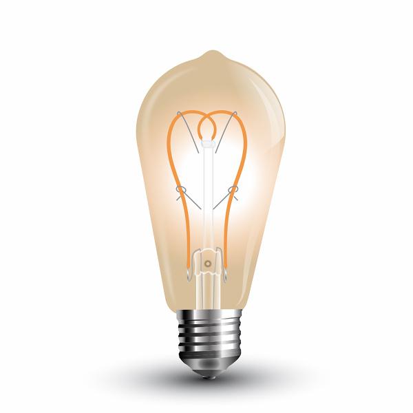V-TAC VT-2066 LAMPADINA LED E27 5W FIL. VINTAGE AMBRATA BIANCO CALDO LED7220