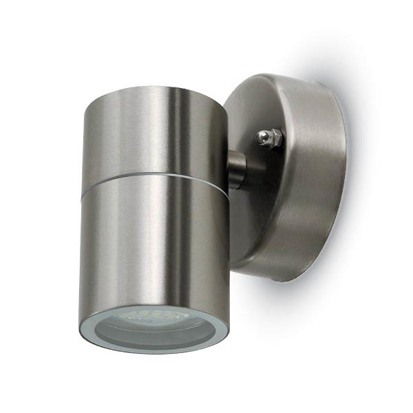 V-TAC VT-7621 LAMPADA DA PARETE 1 ATTACCO GU10 INOX LED7501