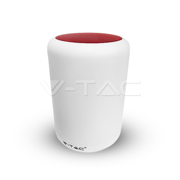 V-TAC VT-1045 LAMPADA DA TAVOLO LED 5W RGB CON BLUETOOTH  CASSA ROSSA LED8509