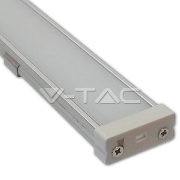 V-TAC VT-7103 PROFILO ALLUMINIO  DA 1MT OPACO LED9986