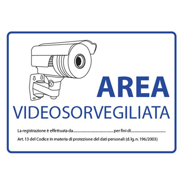 TECNO-ESHOP  CARTELLO DI SEGNALAZIONE TVCC VISAC-CARTEL-IT
