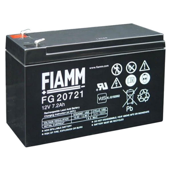 FIAMM FG20 BATTERIA AL PIOMBO 12V 7,2AH ANTFG20721