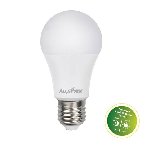 Alcapower Sku 929861 Lampadina Led E27 10w Bianco Naturale Con Sensore Luce Ap10ls