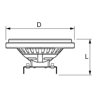 V-TAC VT-1120 LAMPADINA LED AR111 20W 220V BIANCO NATURALE 40 GRADI LED1247