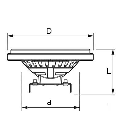 V-TAC VT-1112 LAMPADINA LED AR111/GU10 12W BIANCO CALDO LED4224