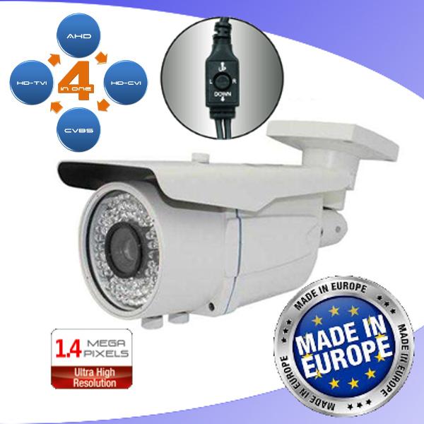 ENVIO  TELECAMERA BULLET AHD/TVI/CVI/ANALOGICA 72 IR 2MP VARIF VISCACTZED72W-200