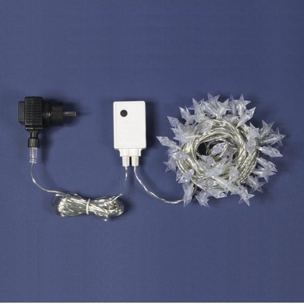 TECNO-NATALE LEDTLS CATENA 60 LED MINISTELLE CONTROLLER MEMORY BIANCO FREDD LEDX30596
