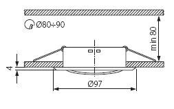 KANLUX CT2115 PORTALAMPADA SPOT GU5.3 INCASSO CROMO OPACO ORIENTABILE LEDCT2115CM53