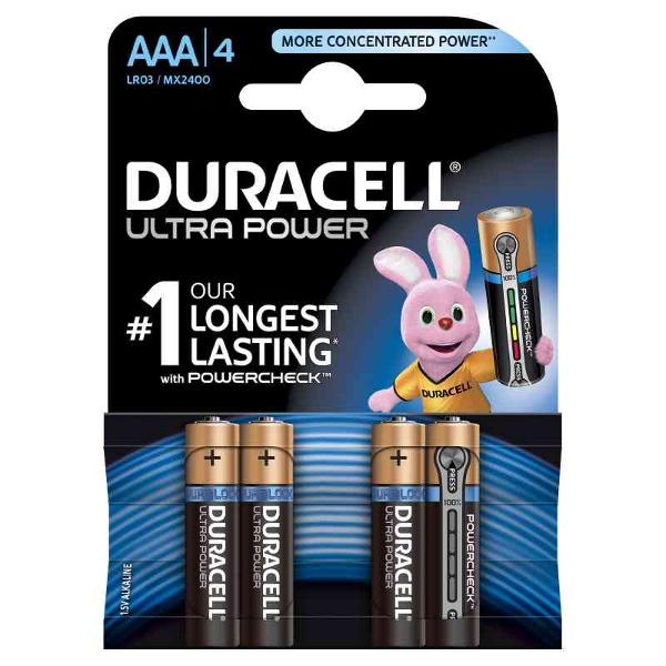 DURACELL LR03/MX2400 MINISTILO AAA ULTRA POWER - BLISTER 4 BATTERIE MELDU0061