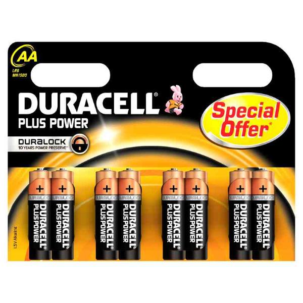 DURACELL LR6/MN1500 STILO AA PLUS POWER - BLISTER 8 BATTERIE MELDU0110