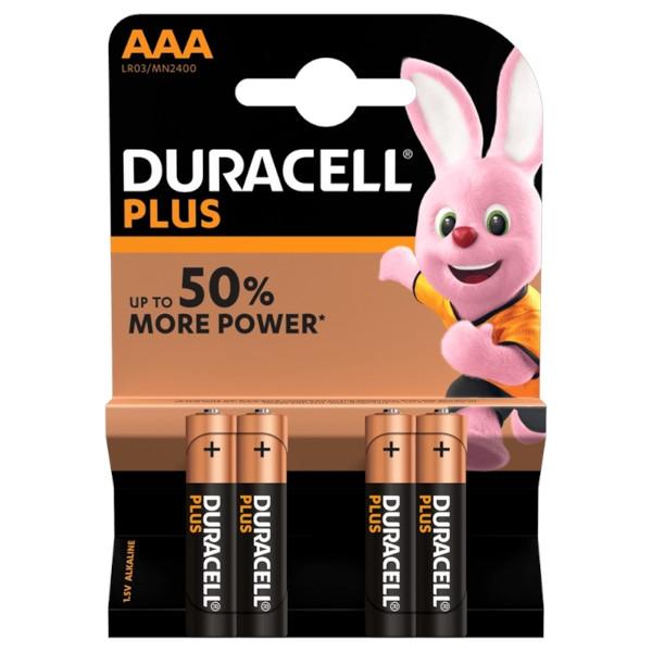 DURACELL LR03/MN2400 MINISTILO AAA PLUS POWER - BLISTER 4 BATTERIE MELDU0200