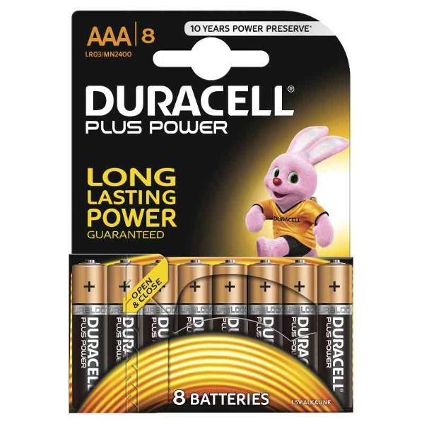DURACELL LR03/MN2400 MINISTILO AAA PLUS POWER - BLISTER 8 BATTERIE MELDU0210