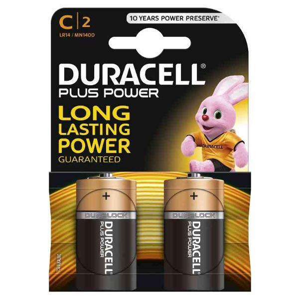 DURACELL LR14/MN1400 MEZZATORCIA C PLUS POWER - BLISTER 2 BATTERIE MELDU0300