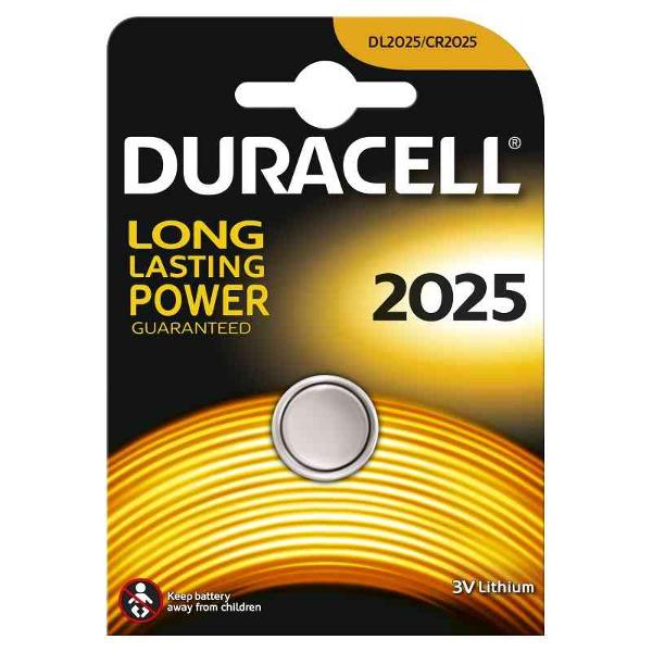DURACELL DL2025 LITHIUM CR2025 3V - BLISTER 1 BATTERIA MELDU21