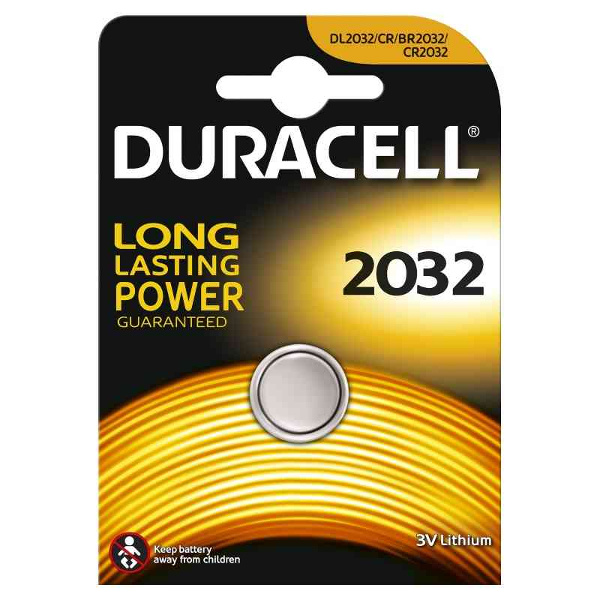 DURACELL DL2032/BR2032 LITHIUM CR2032 3V - BLISTER 1 BATTERIA MELDU22