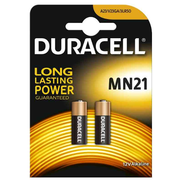 DURACELL 3LR50/A23/V23GA TIPO MN21 12V - BLISTER 2 BATTERIE MELDU25